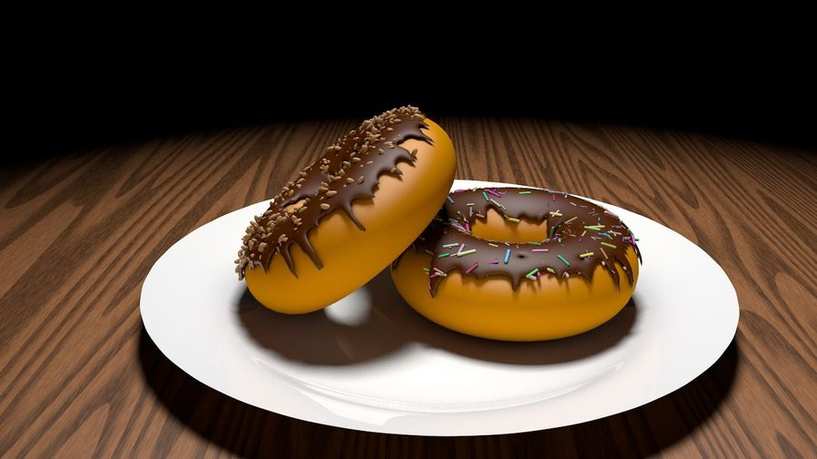 Donut Basic royalty-free 3d model - Preview no. 1