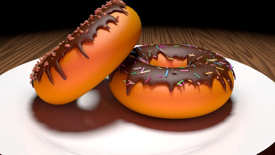 Donut Basic royalty-free 3d model - Preview no. 3