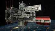 3D Uzay İstasyonu 3d model