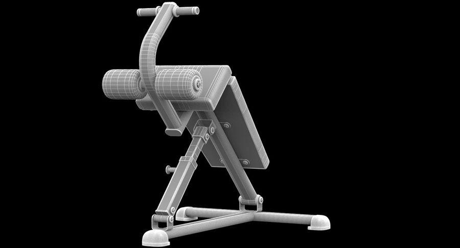GYM Sitt upp bänken royalty-free 3d model - Preview no. 6