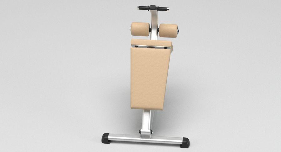 GYM Sitt upp bänken royalty-free 3d model - Preview no. 3