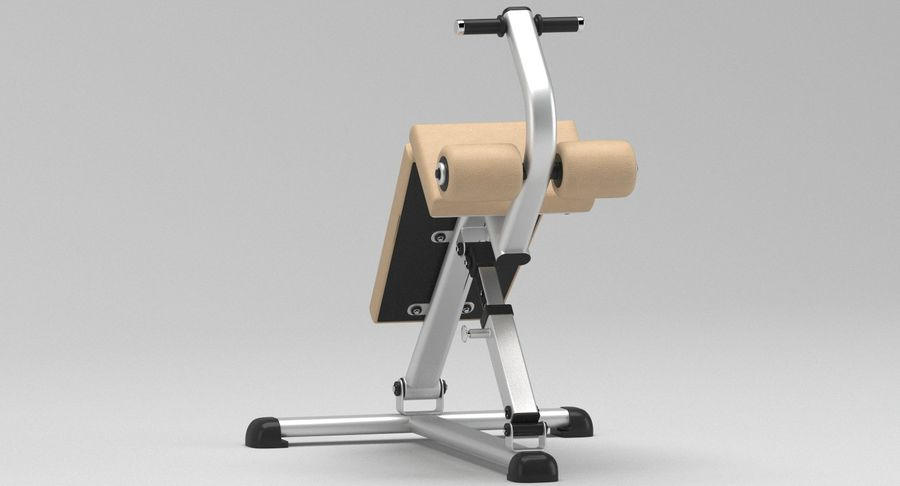 GYM Sitt upp bänken royalty-free 3d model - Preview no. 4