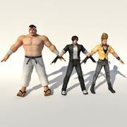 Rei do lutador (EQUIPE JAPÃO) 3d model