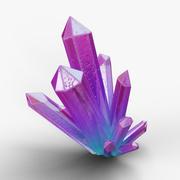 Cristal - Magia colorida 3d model