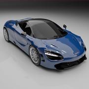 Samochód sportowy McLaren 3d model