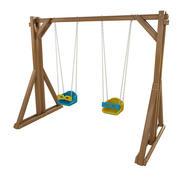 Holzspielplatz Schaukel für Kinder und Spiele 3d model