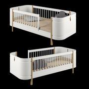ОЛИВЕР МЕБЕЛЬ Wood Mini Junior Bed 3d model