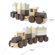 KINDERKONZEPT Neo Holzblock Spielzeugzug 3d model
