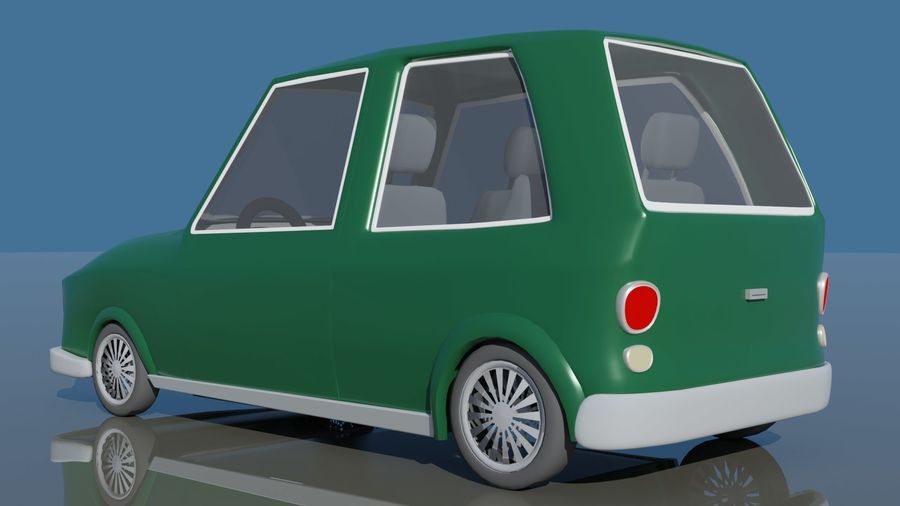 漫画車 royalty-free 3d model - Preview no. 3