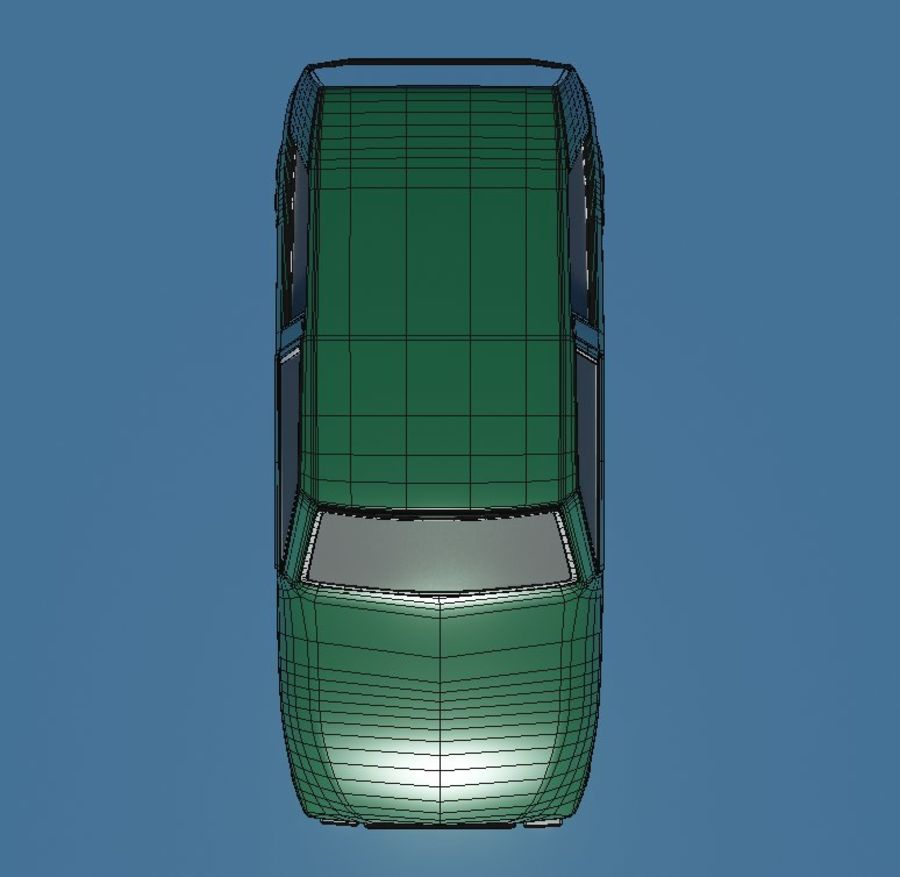 漫画車 royalty-free 3d model - Preview no. 5