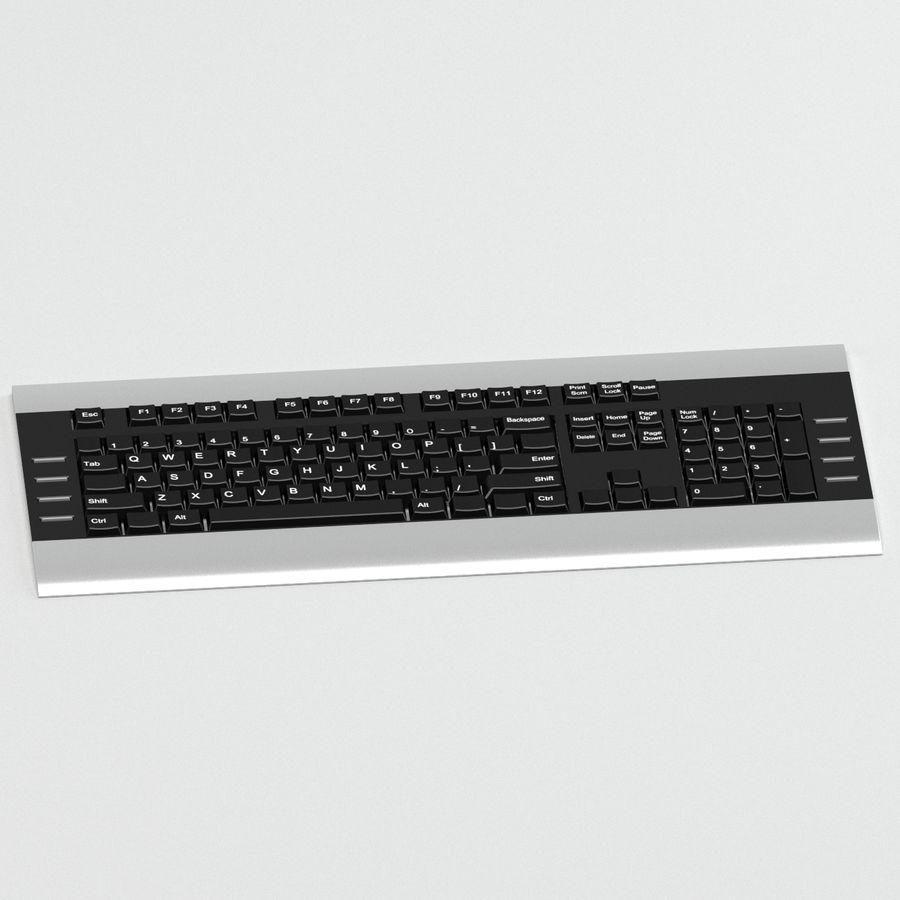 KEYBOARD_03_max royalty-free 3d model - Preview no. 3