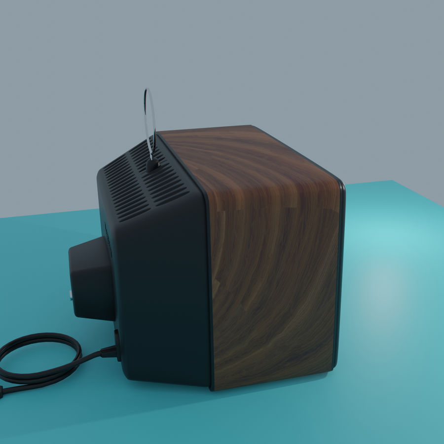 TV vintage royalty-free 3d model - Preview no. 1
