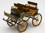 购物车经典 3d model