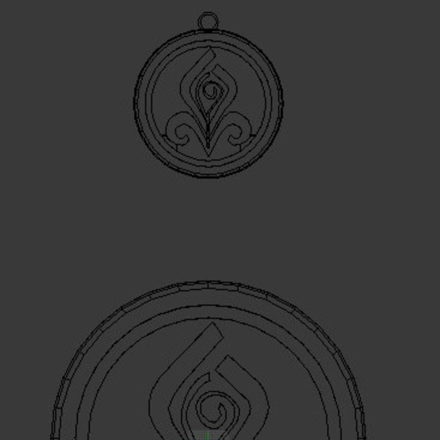 Coaster Chloris e pingente royalty-free 3d model - Preview no. 7
