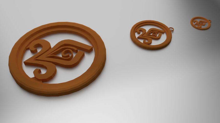 Coaster Chloris e pingente royalty-free 3d model - Preview no. 1