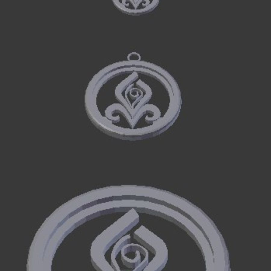 Coaster Chloris e pingente royalty-free 3d model - Preview no. 5