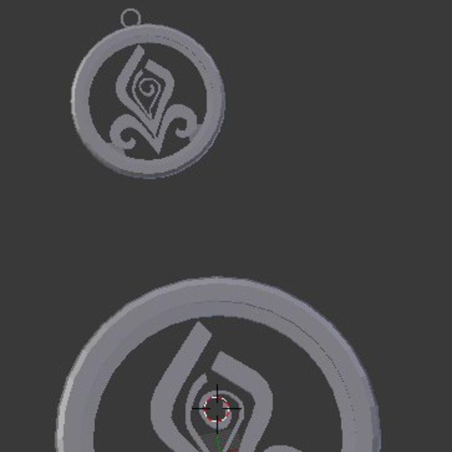 Coaster Chloris e pingente royalty-free 3d model - Preview no. 4