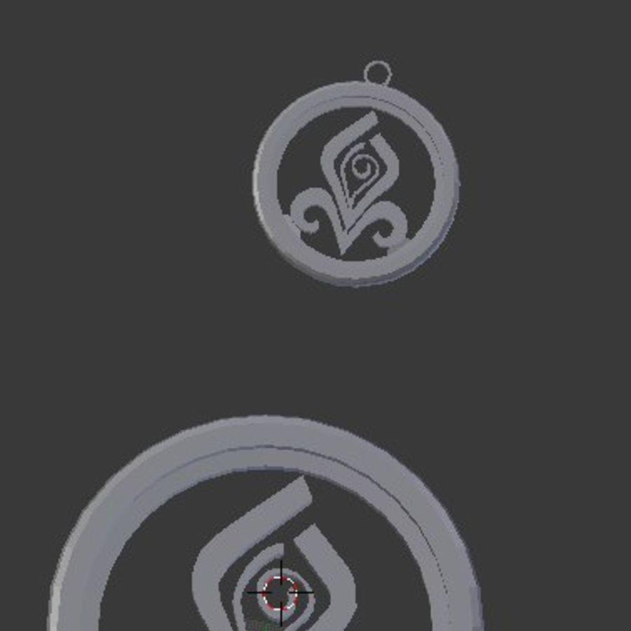 Coaster Chloris e pingente royalty-free 3d model - Preview no. 3