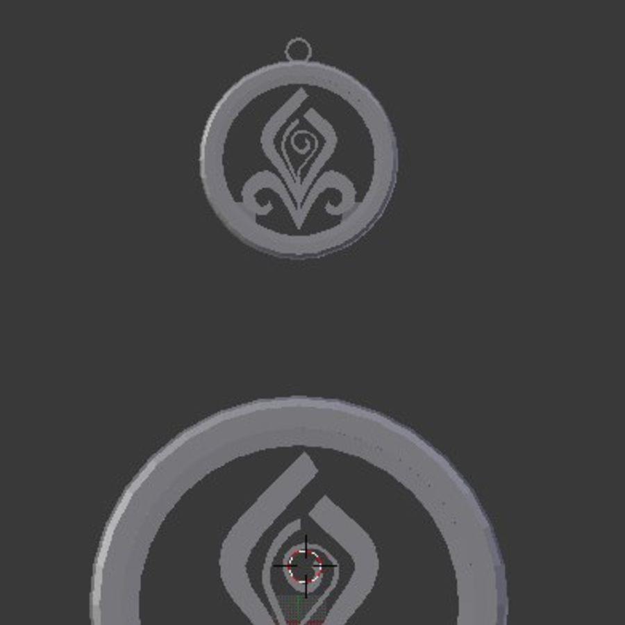Coaster Chloris e pingente royalty-free 3d model - Preview no. 2