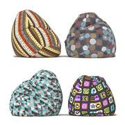 Bean bag chairs 3d model