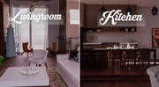 pokój dzienny i kuchnia 3d model