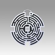 Prigionieri labirinto ciondolo replica film prop 3d model