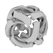 abstrakcyjny sześcian (1) 3d model