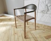 판자 몬차 안락 의자 3d model