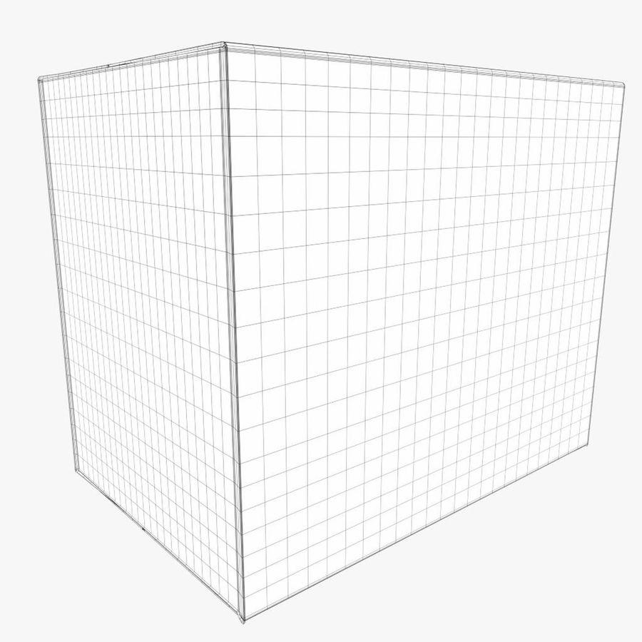 Scatola di cartone chiusa royalty-free 3d model - Preview no. 7