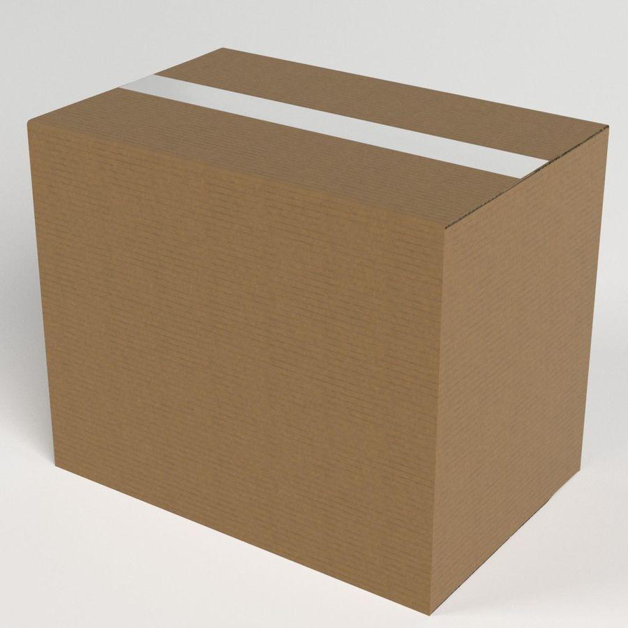 Scatola di cartone chiusa royalty-free 3d model - Preview no. 2