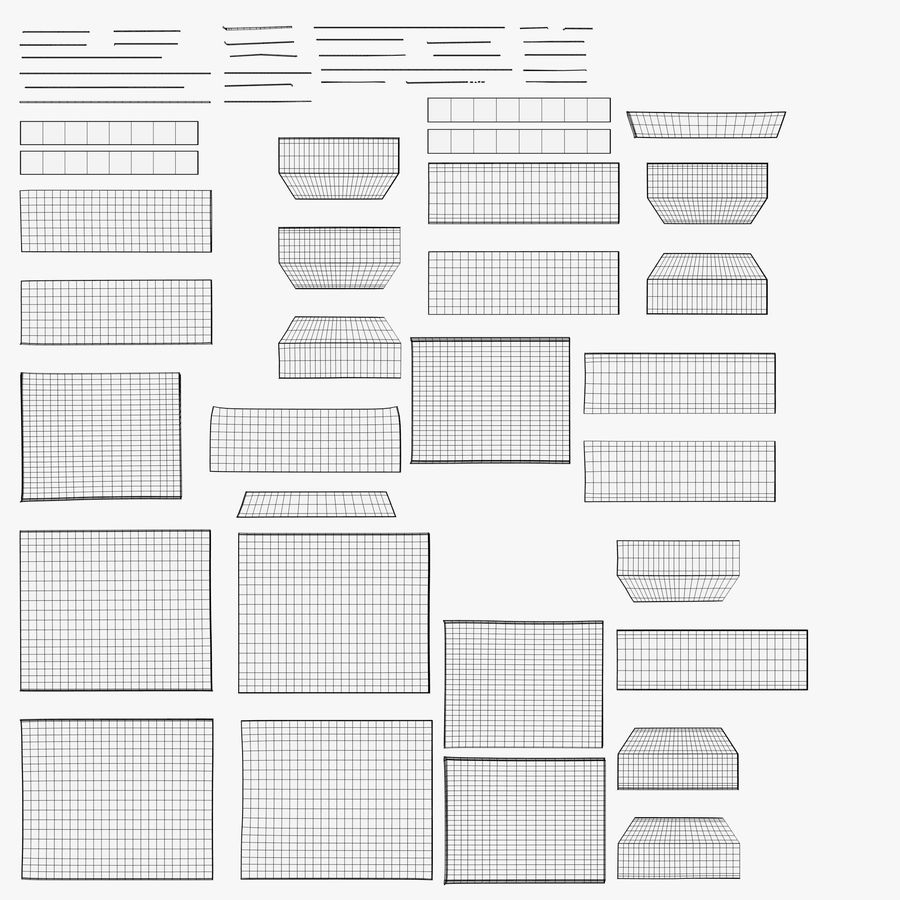 Scatola di cartone chiusa royalty-free 3d model - Preview no. 11
