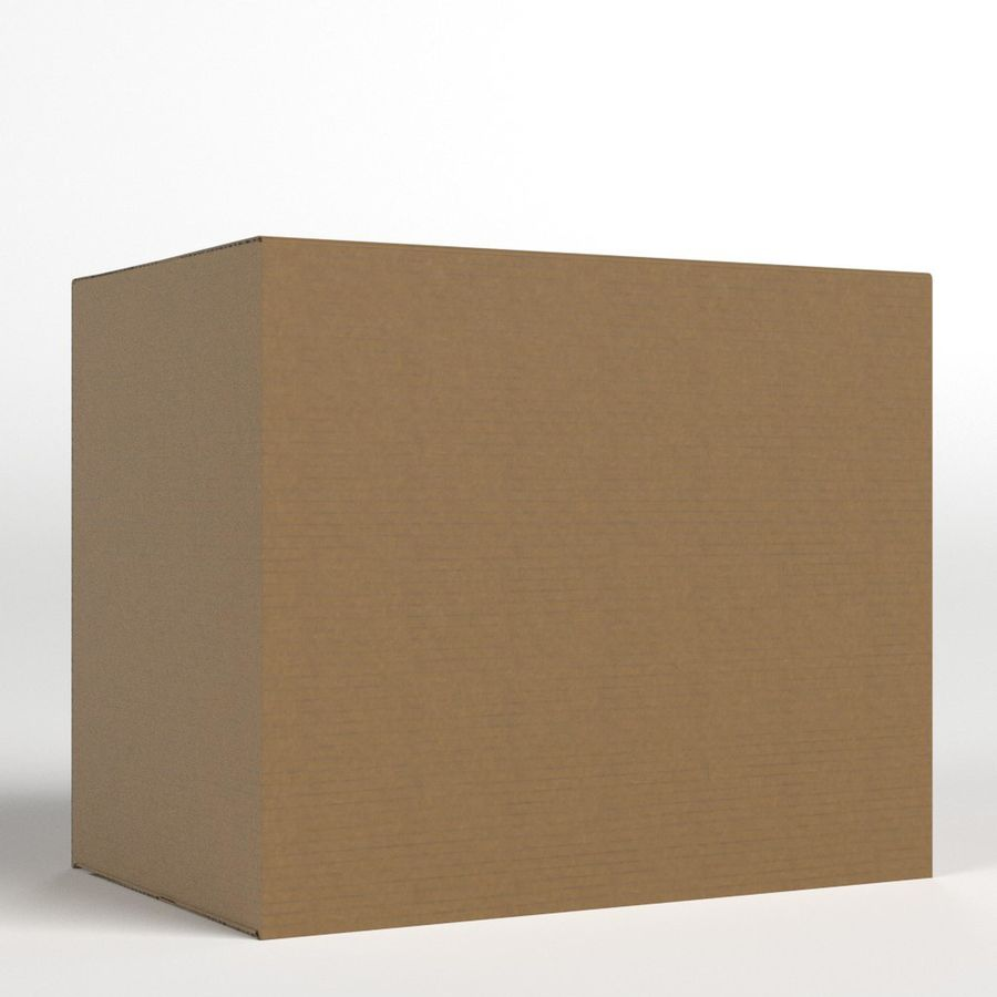 Scatola di cartone chiusa royalty-free 3d model - Preview no. 3