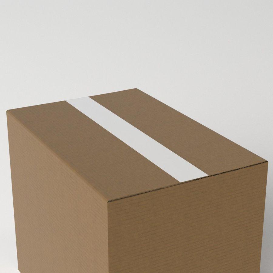 Scatola di cartone chiusa royalty-free 3d model - Preview no. 5