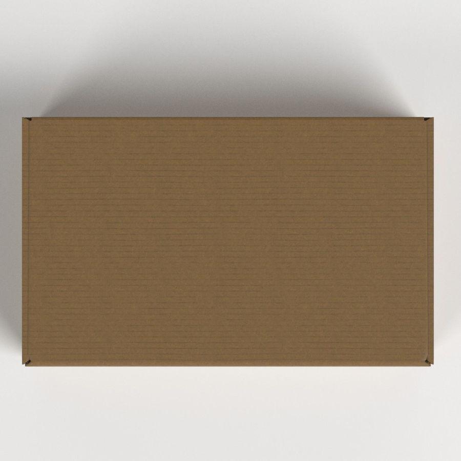 Scatola di cartone chiusa royalty-free 3d model - Preview no. 6