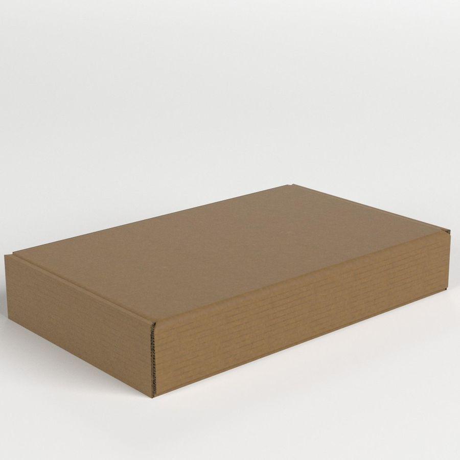 Scatola di cartone chiusa royalty-free 3d model - Preview no. 1