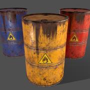 PBR Oil Drum Barrel A1 - Produit chimique explosif inflammable 3d model