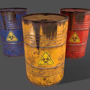 PBR油桶桶A6-生物危害性有毒废物 3d model