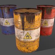 PBR Oil Drum Barrel A7 - Produit chimique explosif inflammable 3d model