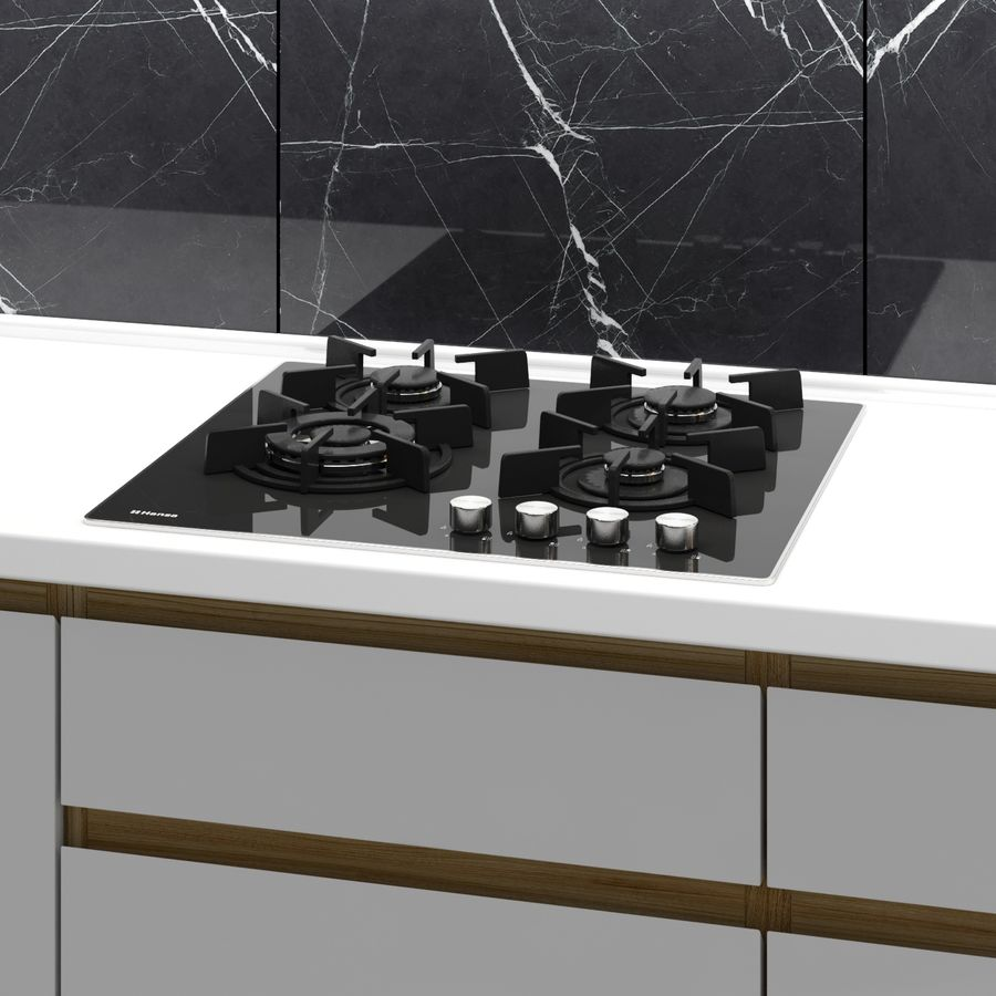 Corner Kitchen royalty-free 3d model - Preview no. 4
