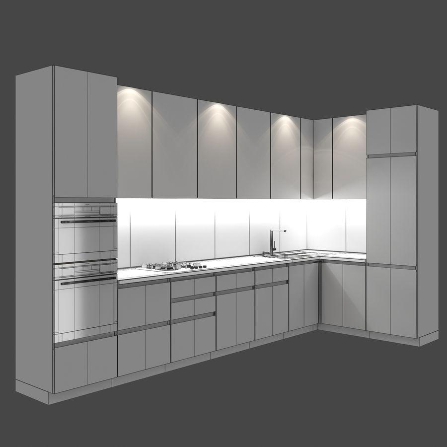 Corner Kitchen royalty-free 3d model - Preview no. 7