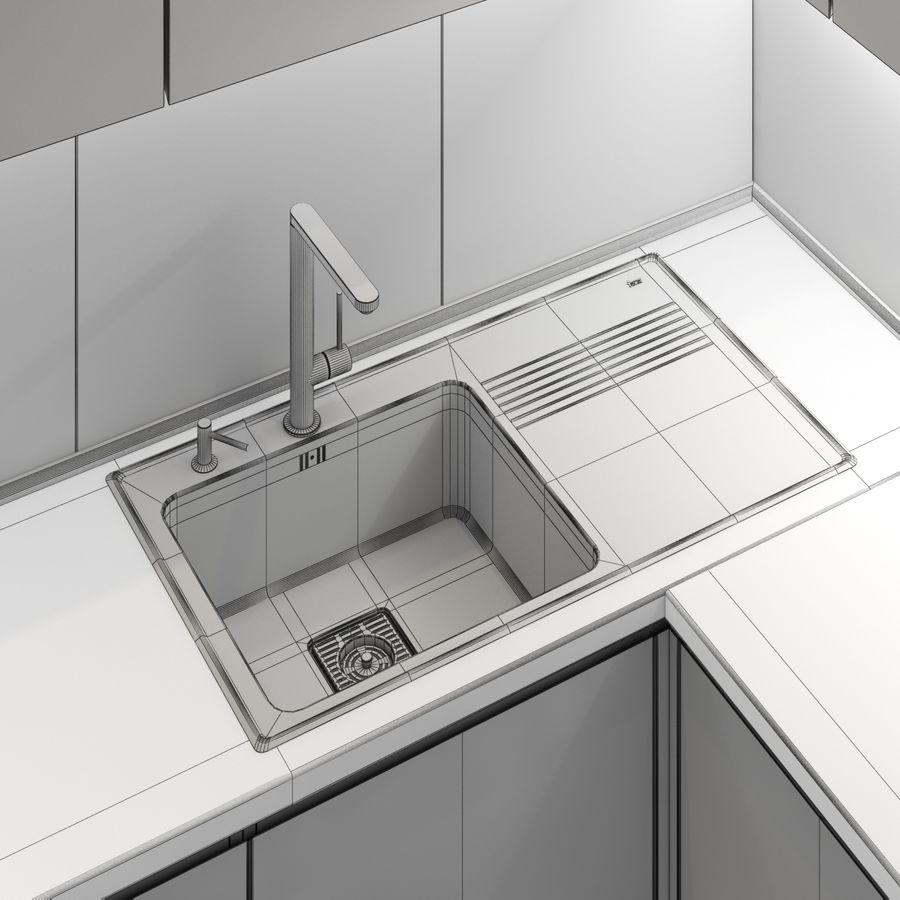 转角厨房 royalty-free 3d model - Preview no. 10