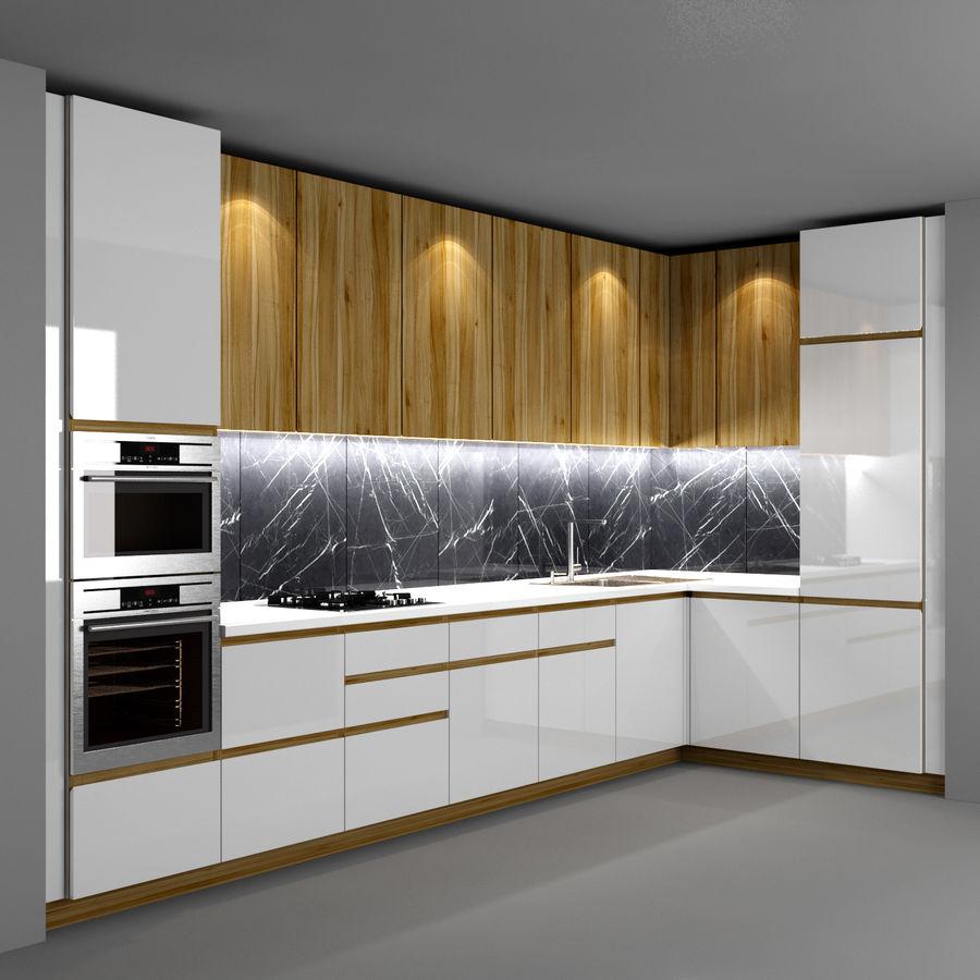 Corner Kitchen royalty-free 3d model - Preview no. 1