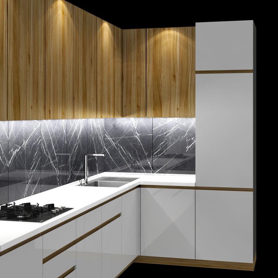 Corner Kitchen royalty-free 3d model - Preview no. 3