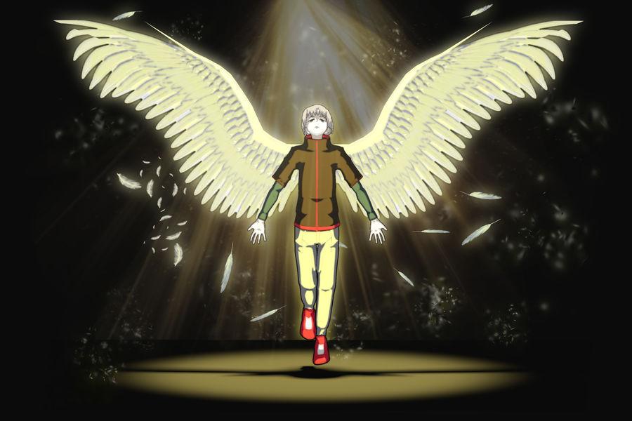 Personagem de Anime - Garoto Torcido royalty-free 3d model - Preview no. 1