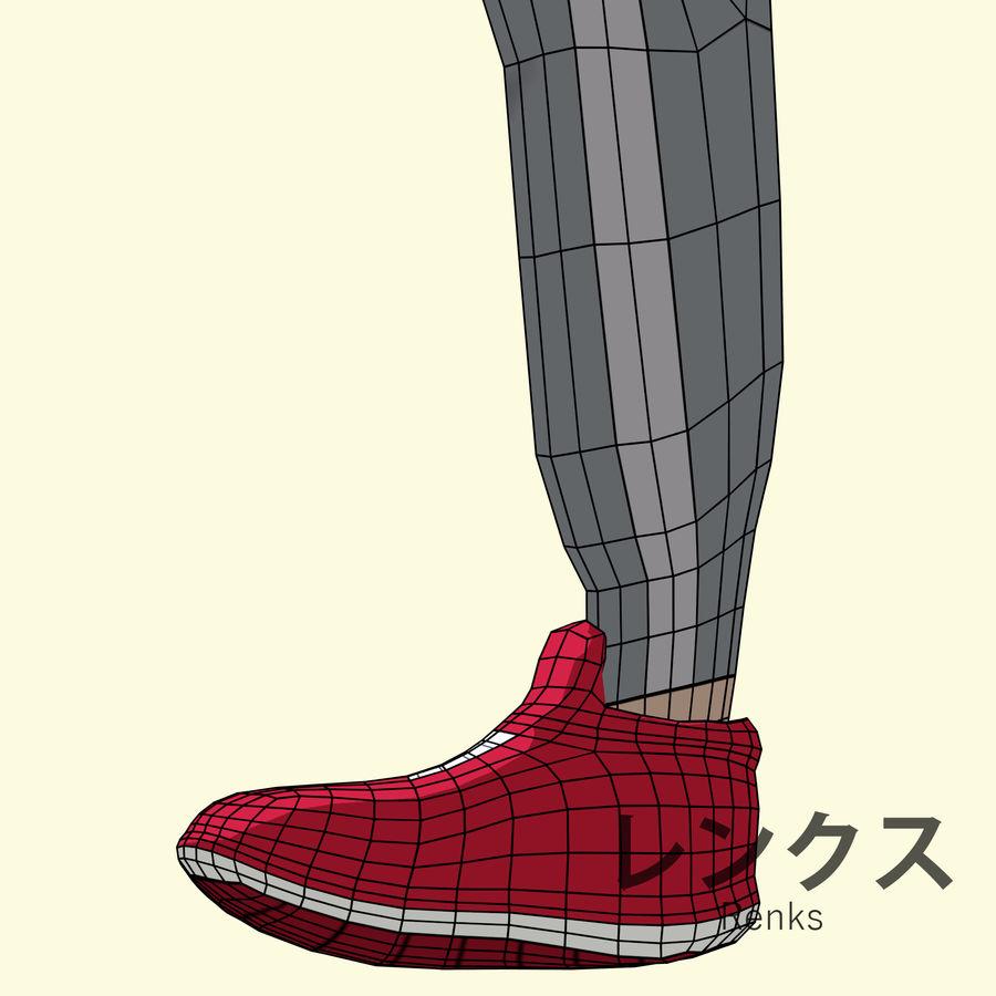 Personagem de Anime - Garoto Torcido royalty-free 3d model - Preview no. 21