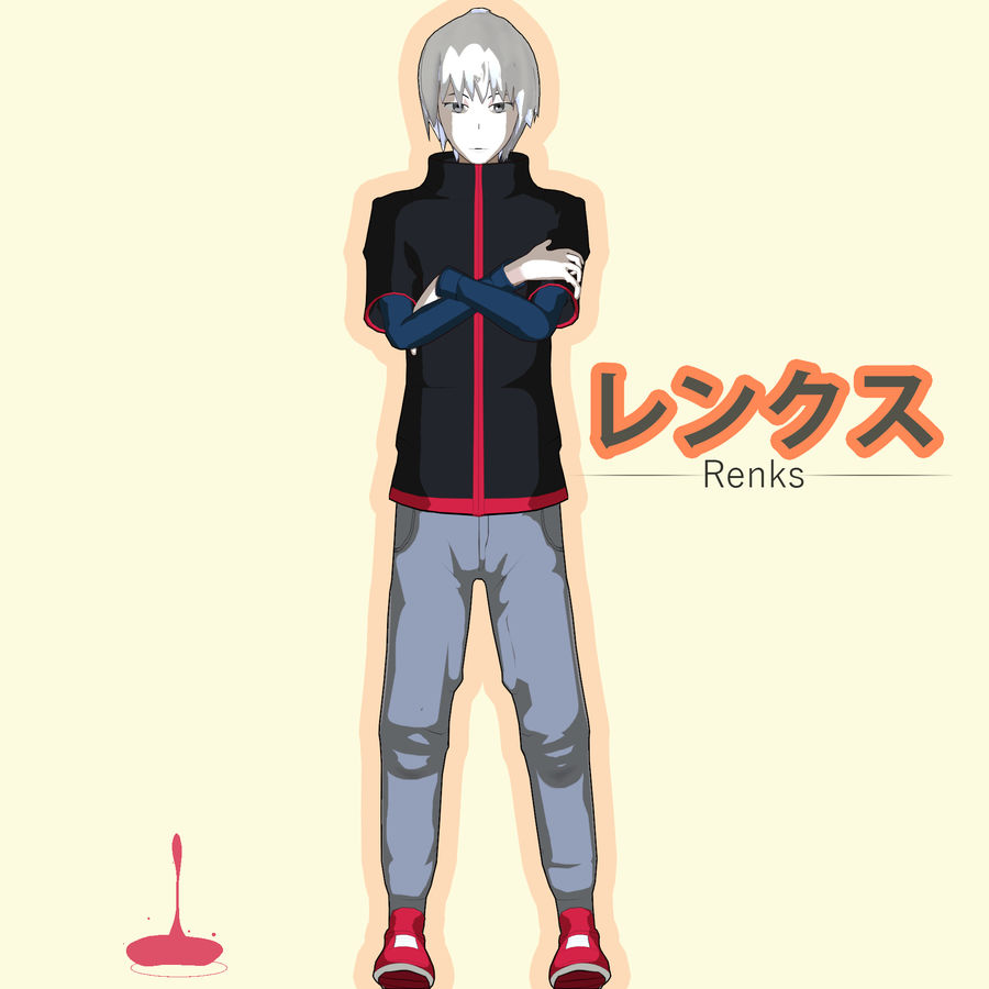 Personagem de Anime - Garoto Torcido royalty-free 3d model - Preview no. 22