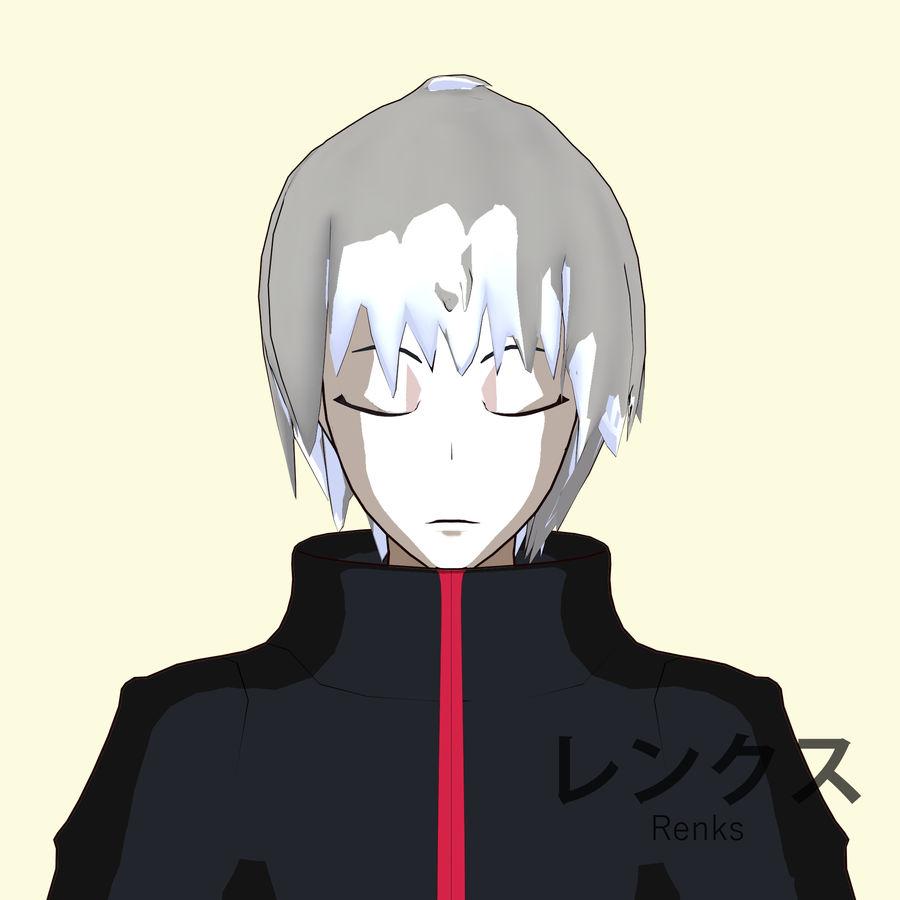 Personagem de Anime - Garoto Torcido royalty-free 3d model - Preview no. 11