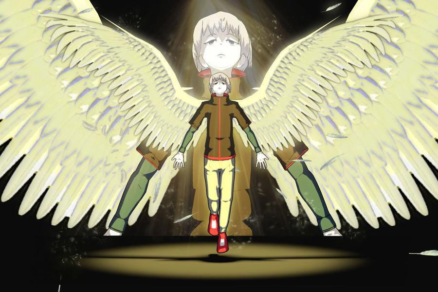 Personagem de Anime - Garoto Torcido royalty-free 3d model - Preview no. 23