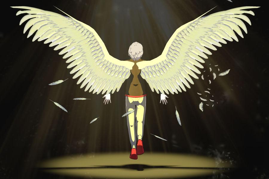 Personagem de Anime - Garoto Torcido royalty-free 3d model - Preview no. 3