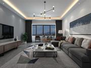 Oturma ve Yemek Odası 3d model